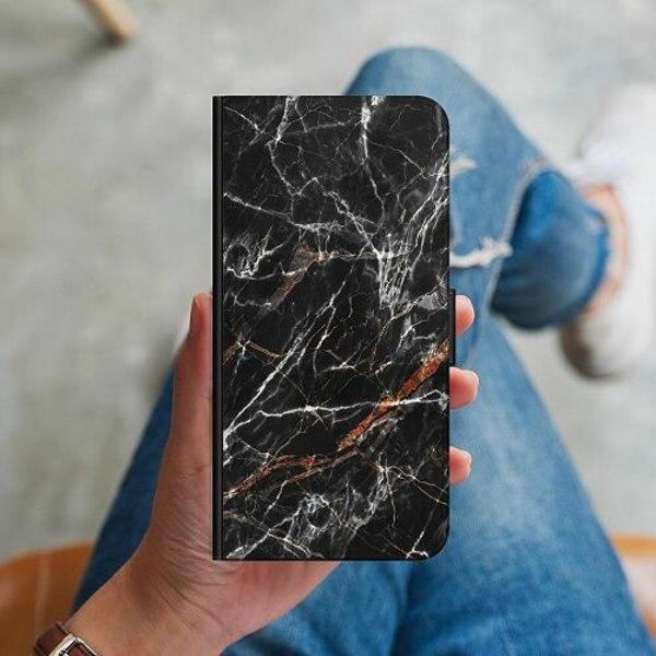 Samsung Galaxy Note 9 Plånboksskal BL4CK MARBLE