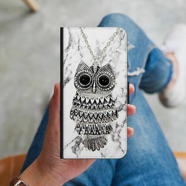 Samsung Galaxy A51 Plånboksskal Marmor Uggla