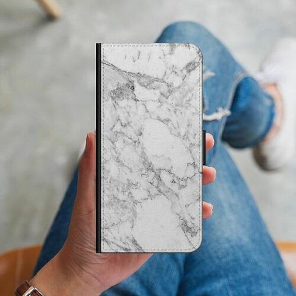 Apple iPhone 12 Plånboksskal Marmor Vit