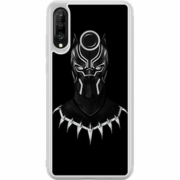 Huawei P30 Lite Soft Case (Frostad) Black Panther