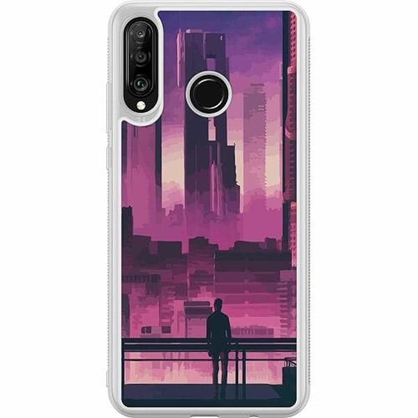 Huawei P30 Lite Soft Case (Frostad) Cyberpunk 2077