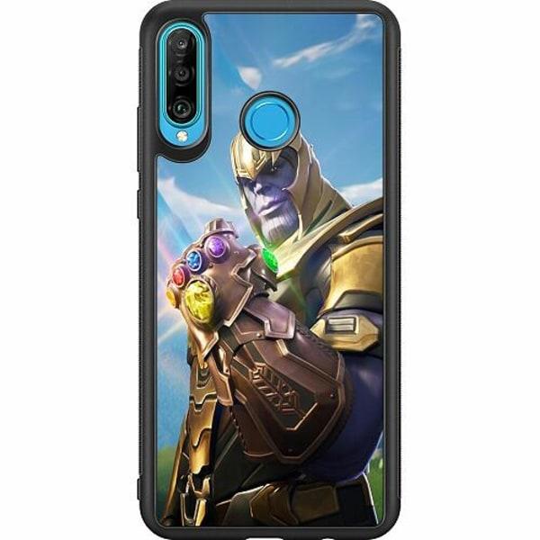 Huawei P30 Lite Soft Case (Svart) Fortnite Thanos