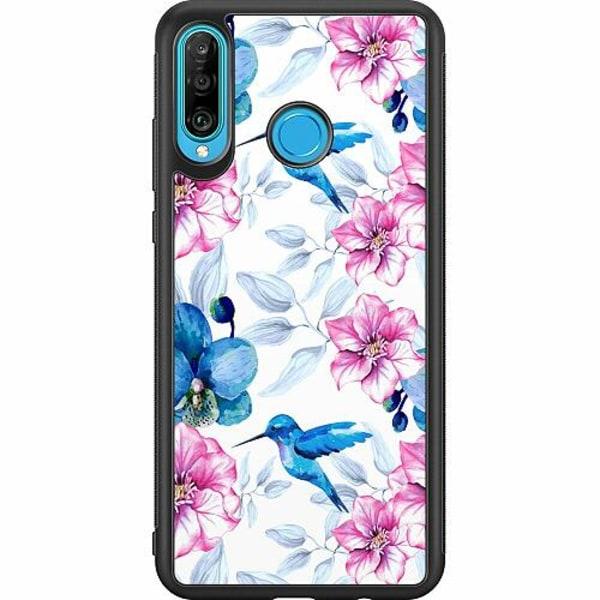 Huawei P30 Lite Soft Case (Svart) Hummingbird