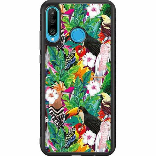 Huawei P30 Lite Soft Case (Svart) Jungle Drum