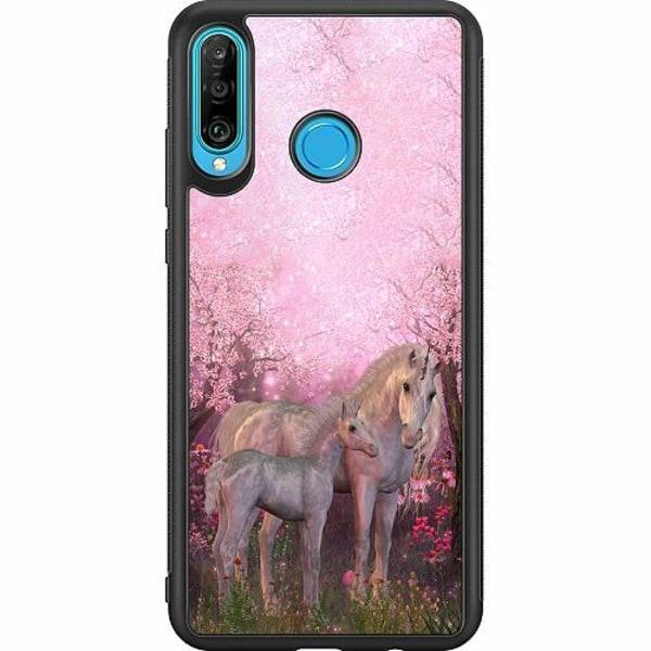 Huawei P30 Lite Soft Case (Svart) Magic Unicorns