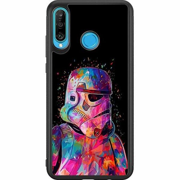 Huawei P30 Lite Soft Case (Svart) Star Wars Stormtrooper