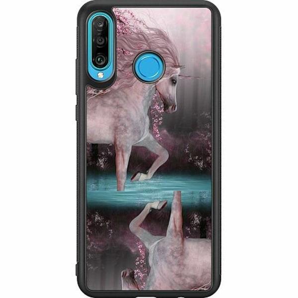 Huawei P30 Lite Soft Case (Svart) Unicorn Pond