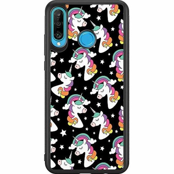 Huawei P30 Lite Soft Case (Svart) Unicorns Are Real