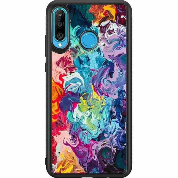 Huawei P30 Lite Soft Case (Svart) Wild Colours