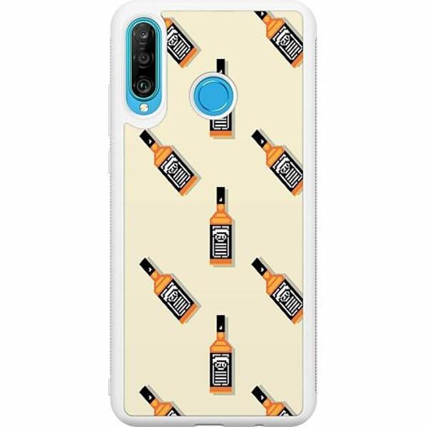 Huawei P30 Lite Soft Case (Vit) Öl