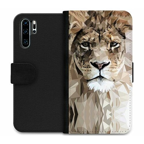 Huawei P30 Pro Wallet Case Abstract Lion