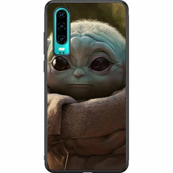 Huawei P30 Soft Case (Svart) Baby Yoda