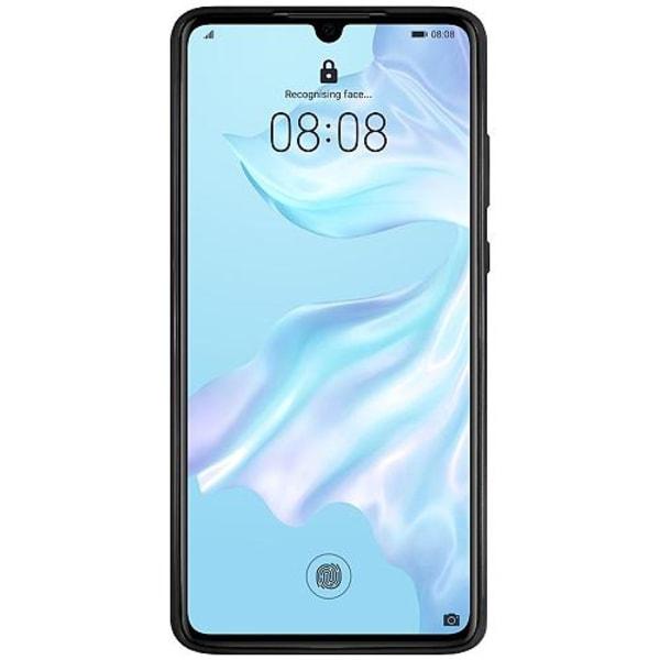 Huawei P30 Svart Mobilskal med Glas Galaxy Uggla