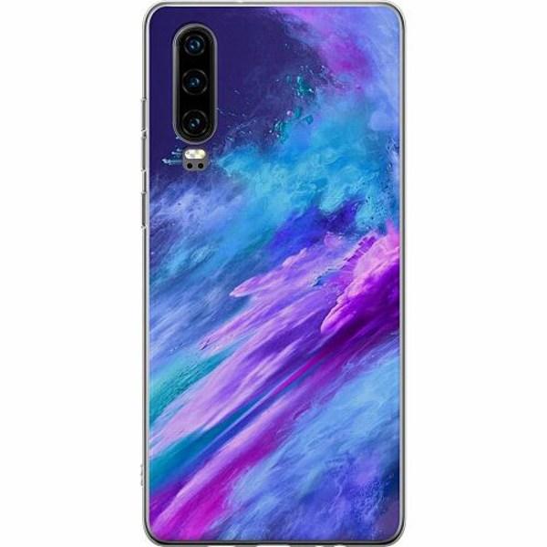 Huawei P30 Thin Case Crashing Purples