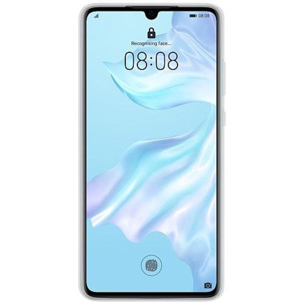 Huawei P30 Transparent Mobilskal med Glas Diego Maradona