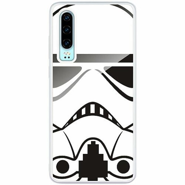 Huawei P30 Transparent Mobilskal med Glas Star Wars