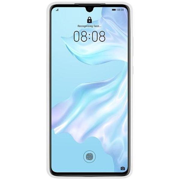 Huawei P30 Vitt Mobilskal med Glas Mönster
