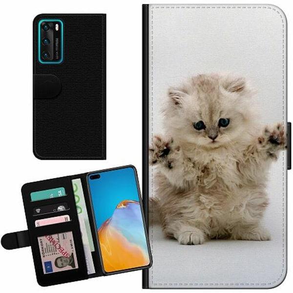 Huawei P40 Billigt Fodral Katt