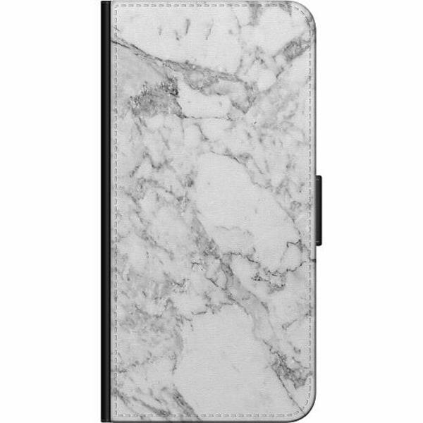 Huawei P40 Billigt Fodral Marmor Vit