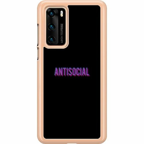 Huawei P40 Hard Case (Transparent) Antisocial