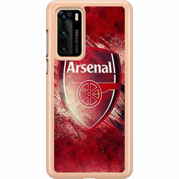 Huawei P40 Hard Case (Transparent) Arsenal Football