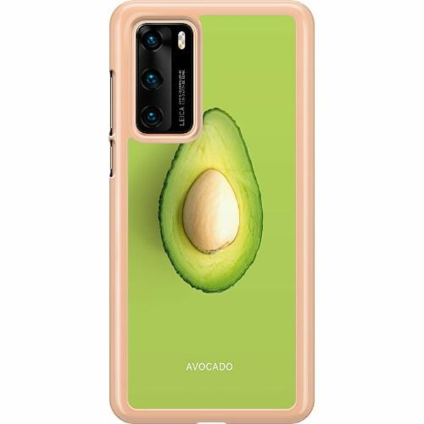 Huawei P40 Hard Case (Transparent) Avocado