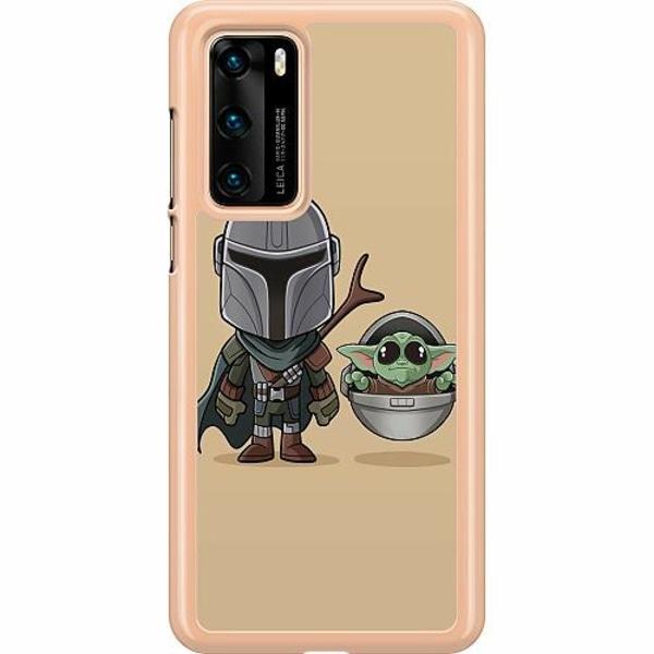 Huawei P40 Hard Case (Transparent) Baby Yoda