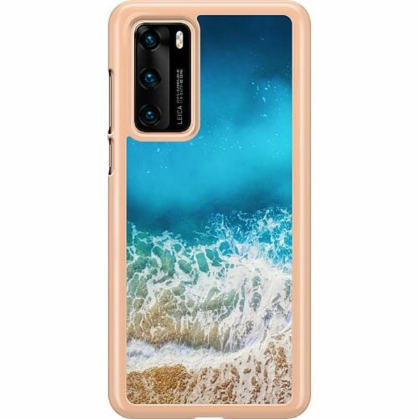 Huawei P40 Hard Case (Transparent) Beach Please