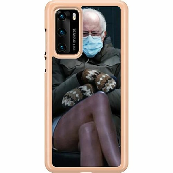 Huawei P40 Hard Case (Transparent) Bernie Sanders Meme