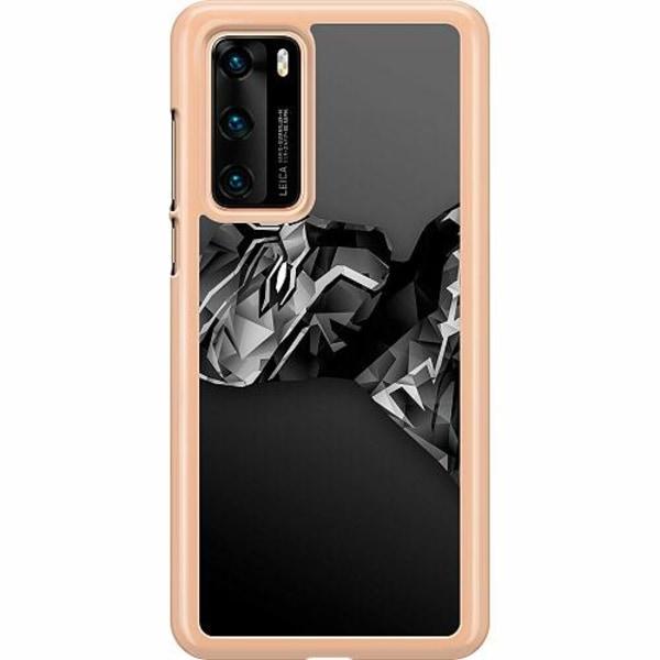 Huawei P40 Hard Case (Transparent) Black Panther