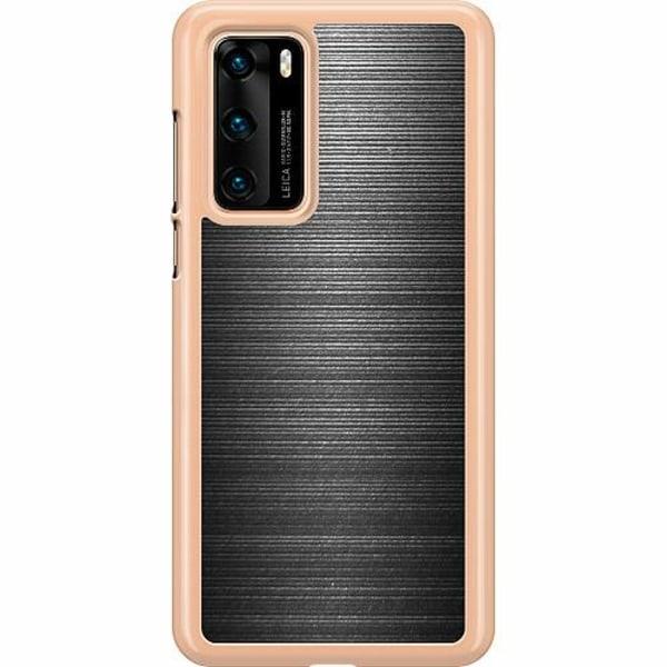 Huawei P40 Hard Case (Transparent) Brushed Metal