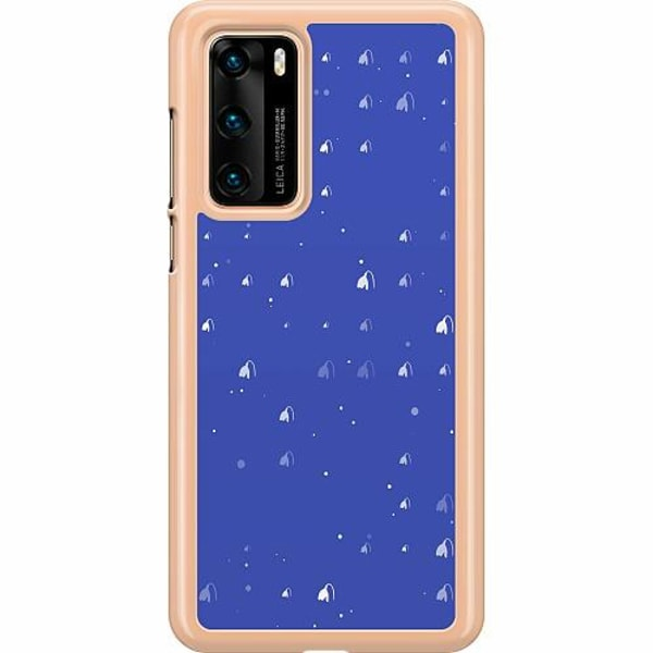 Huawei P40 Hard Case (Transparent) Bubbles Invaders