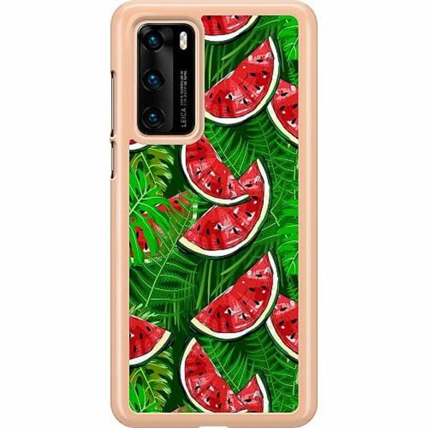 Huawei P40 Hard Case (Transparent) Bushy Melons