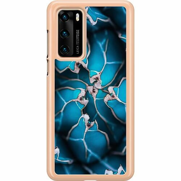 Huawei P40 Hard Case (Transparent) Cactus And Lime