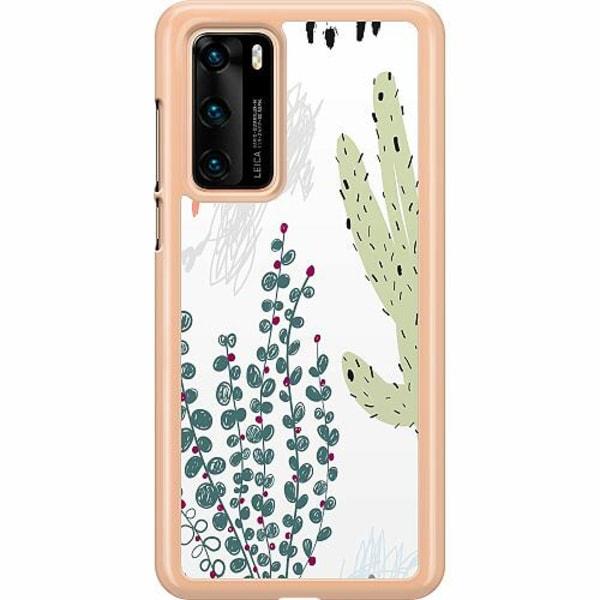 Huawei P40 Hard Case (Transparent) Cactus Or Cacti