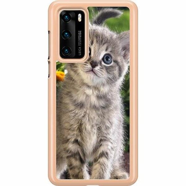 Huawei P40 Hard Case (Transparent) Cat