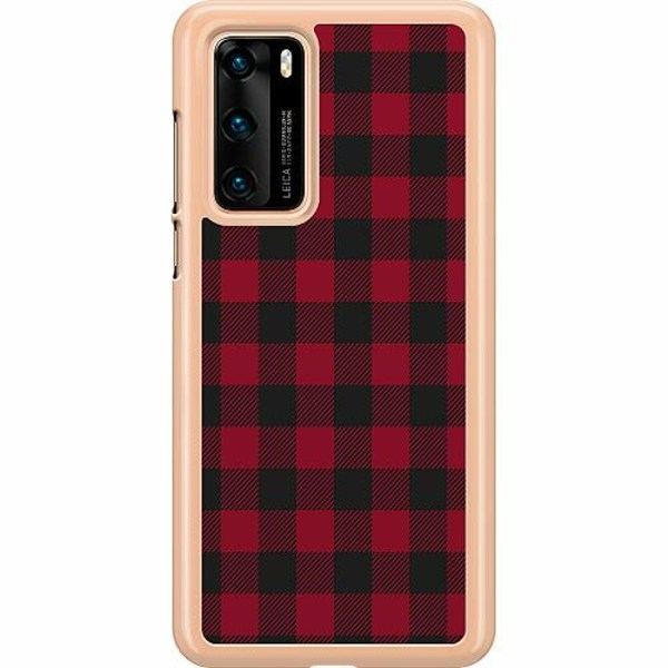 Huawei P40 Hard Case (Transparent) Checkered Flannel
