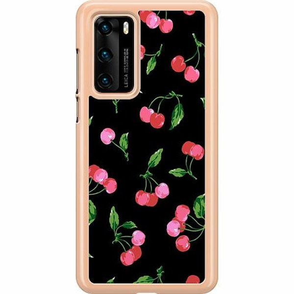 Huawei P40 Hard Case (Transparent) Cherry