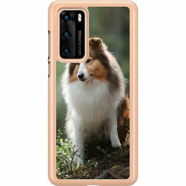 Huawei P40 Hard Case (Transparent) Collie Dog