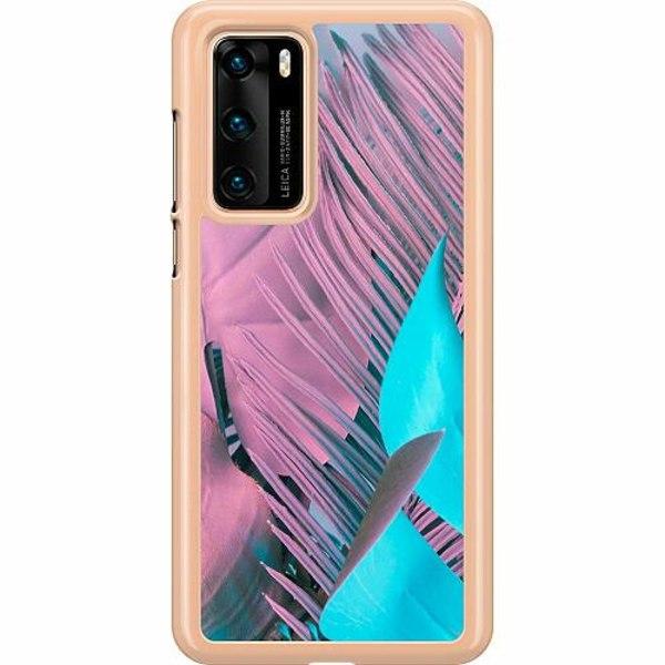 Huawei P40 Hard Case (Transparent) Coral Blue Hues