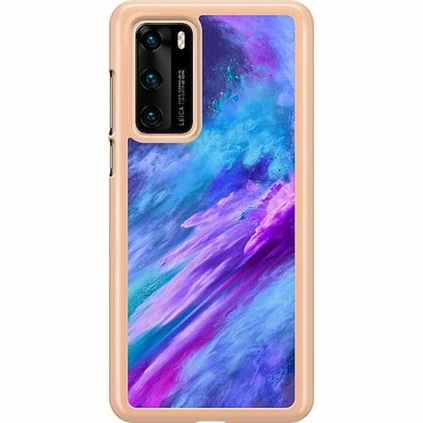Huawei P40 Hard Case (Transparent) Crashing Purples