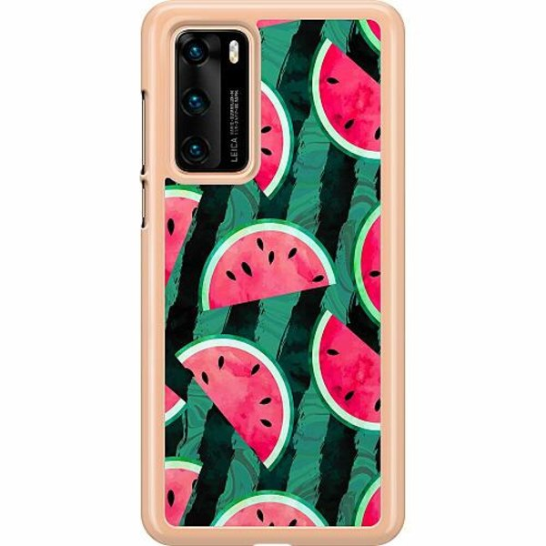 Huawei P40 Hard Case (Transparent) Crazy for Watermelon