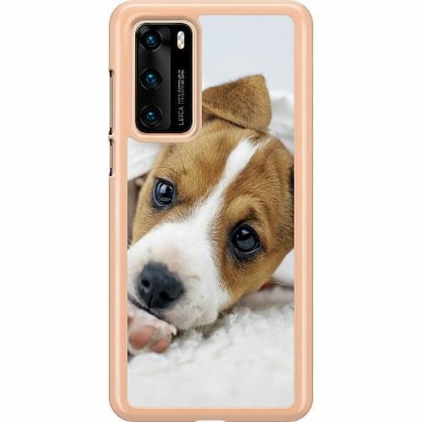 Huawei P40 Hard Case (Transparent) Cute Puppy