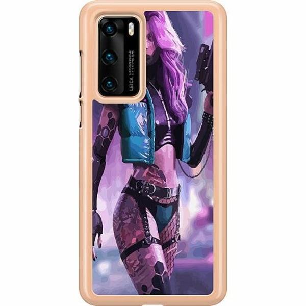 Huawei P40 Hard Case (Transparent) Cyberpunk 2077
