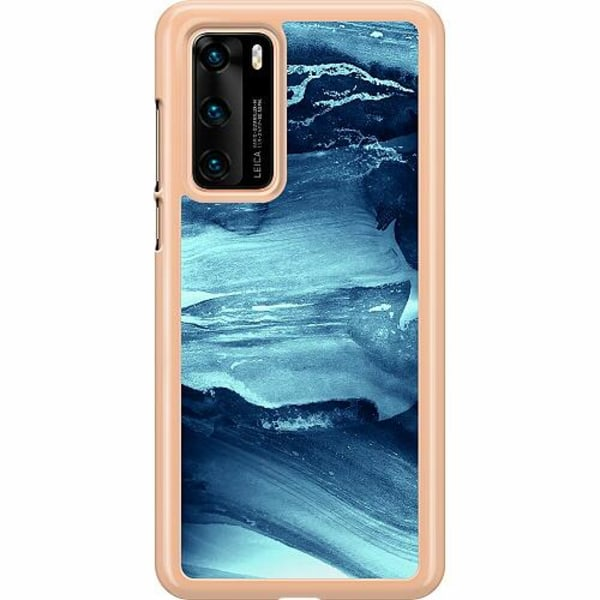 Huawei P40 Hard Case (Transparent) Deep Sea