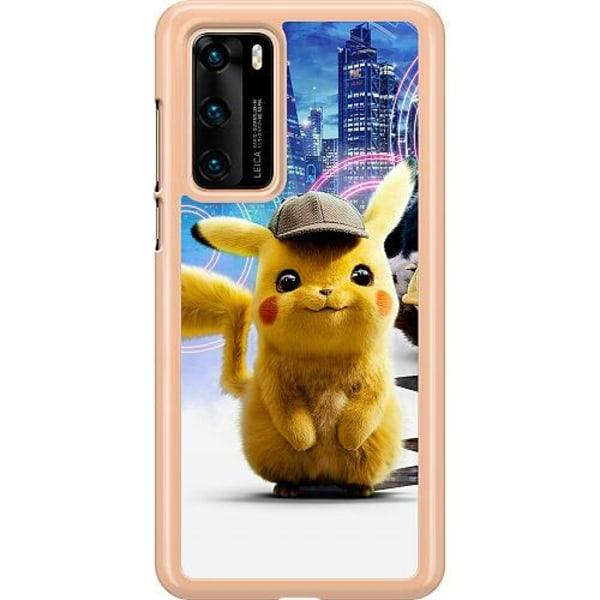 Huawei P40 Hard Case (Transparent) Detective Pikachu - Pikachu