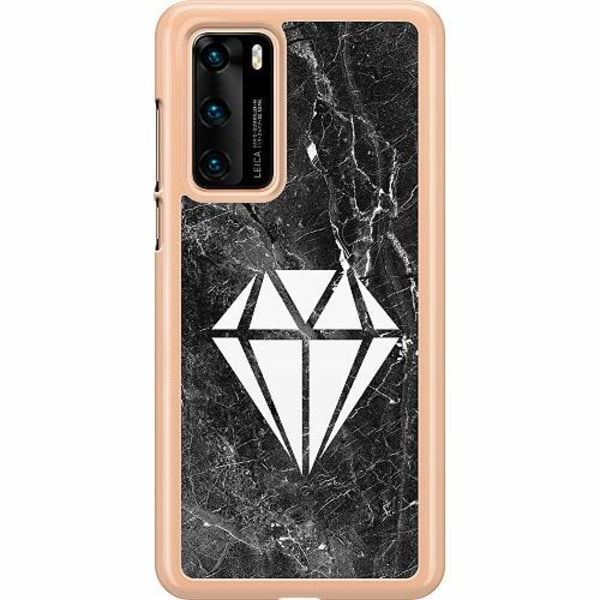 Huawei P40 Hard Case (Transparent) Diamond