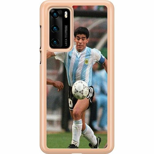 Huawei P40 Hard Case (Transparent) Diego Maradona