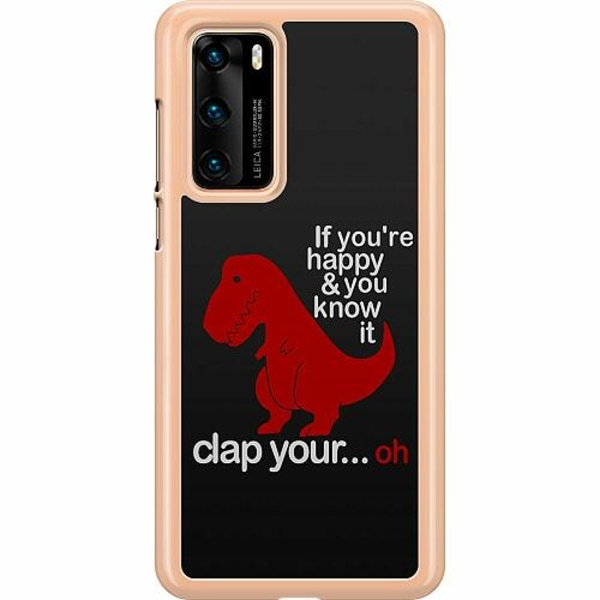 Huawei P40 Hard Case (Transparent) Dinosaurie