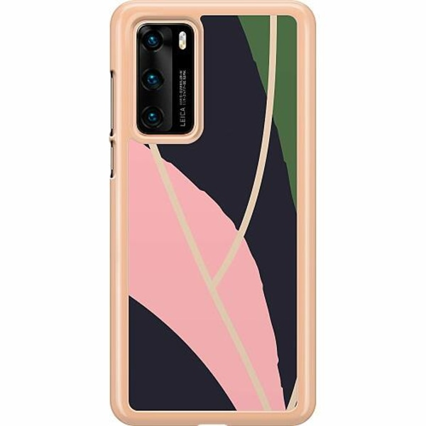 Huawei P40 Hard Case (Transparent) Dots, Lines, What